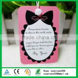 luxury hang tag printed paper hang tags, garment hang tags