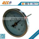 WSS series Back type bimetal thermometer