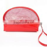 Export Directly Wholesale Bulk Beautiful China Red Clear Cosmetic Bag