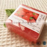 Wholesale 110g whitening facial bar soap with strawberry essential oil