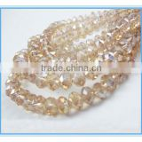 Crystal Faceted Rondelle Loose Beads For Decoration 8*6 mm Glass Beads Strands