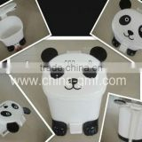 Animal pig bear panda duck frog cute home house room child children kid mini small plastic waste bin with foot pedal