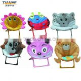 Kids outdoor small folding moon chair animal print camp chair