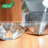 Reusable Three Side Sealed Embossed Aluminum Foil Zip Lock Bag For Food With Clear Window