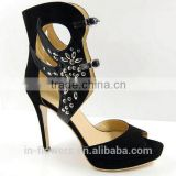 IF-LS021 2014 New European and American Retro style Nightclub Sexy Ladies Shoes With Fish Head Heels Sandals Women