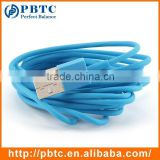 Cheap 1 Meter Blue Super Flexible USB Cable Micro USB Cable