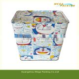 Round Lock Money Tin Box coin bank tin can
