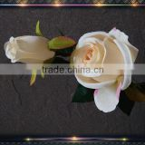 long stem white silk artificial roses