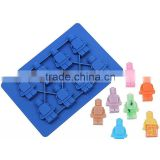 Silicone Minifigure Sweet Candy Tray Bricks Figures Ice Cube Mold Silicon Chocolate Mould
