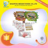 Mix fruit flavor rock pop candy sweet with nail sticker