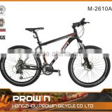 "26"" 24 sp full aluminum alloy front Suspension Alloy mountain bike (M-2610A)"