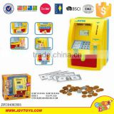 Lockable ATM bank money saving boxes toy