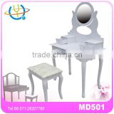 Dressing table & stool with mirror & 7 storage drawers high quality girl dressing table