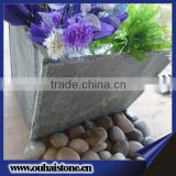 Beautiful accessories useful slate stone black yard flower pot