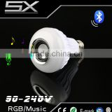MP3 Music E27 LED Bulb 6W RGB Wireless Bluetooth Speaker Projector stage Lamp Remote Control Version