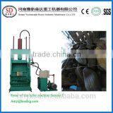 Easy operating used tire baler