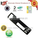 Black resin type TOP quality engraved clothing tags labels custom with logo