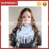 F197-1/Aqua Blue women chunky winter scarf/classical scarf leather belt/leather belt women infinity scarf