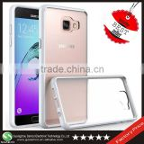 Samco Exact Fit NO Bulkiness Clear Back Panel + Soft TPU Cell Phone Cover for Samsung Galaxy A5 2016