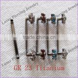 Hot Selling With Flower Design Surface Bar Gr23 Titanium Dermal Anchor Piercing Jewelry [DA-680B]