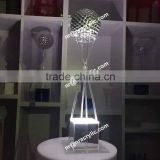 shanghai event rental banquet acrylic LED lighted table decorative centerpiece(with crystal/mirror ball)