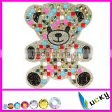 Hot fix rhinestone sticker design with point back crystal and large shape stone Teddy bear