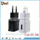 5V 2A EU/US Plug 1 Port Multiple Wall USB Charger Smart Adapter Mobile Phone Charging Data Device For iPhone for iPad forSamsung