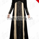 Fashionable Abaya Muslims Caftan Turkish Appliques Lace Islamic Women Clothing Long Dress Kaftan Mixed color Two Shades