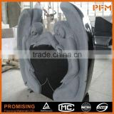 Low price qualityChina pure black granite kerbs for gravestone