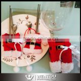 Santa Claus Christmas Fork Spoon Cutlery Holder Bags