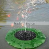 Solar Floating Lotus Leaf Fountain / solar power water pump / Garden Pond Decoration