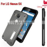 For LG Nexus 5X Net case rubber soft touch coating mobile case stand function mobile cover case top mobile accessories