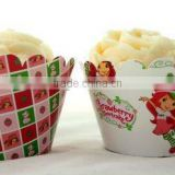 KIDS BIRTHDAY Baking Supplies / cake Accessories Strawberry Shortcake Cupcake wrappers for Girl's Birthday Party