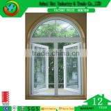 Big House Use Awning Window PVC Grill Swing Window Design Exterior Rainproof and Soundproof Windows and Doors