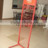 Adjustable Baskets and Hooks Wire Floor Stand Display Metal Folding Rack