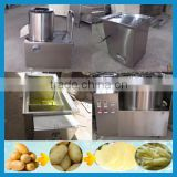 small scale 30kg/h semi automatic raw potato chips blancher machine/french fries production line