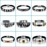 Bracelet Men Leather For Mens Genuine Leather Bracelet/Leather Cuff Bracelet