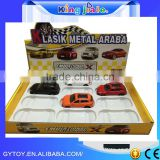 Hot selling 1:43 alloy diecast model car with battery operated toy race car