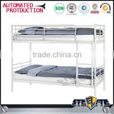 Comfortable hotel metal bed frame loft bunk bed metal bunk bed parts