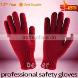 Bottom price High reflective seamless knitted adult gloves