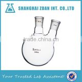 2L Laboratory Glassware Borosilicate Glass Heavy Wall Two Necks Round Bottom Round Bottom Boiling Flask