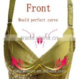 2015 hot selling new design lady's secret cotton fashion solid corset push up bra of fancy lace bra hot sexy girls photos