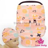 Wholesale Baby Product Pattern Printed Cotton Elastic 3In1 Infant Stroller Carrier Cover