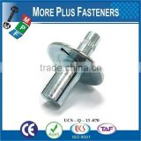 Made in Taiwan Hammer Drive Pin Rivet Aluminum Drive Rivet