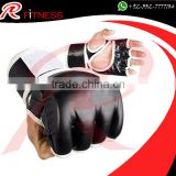 New Style Leather MMA Training Gloves Black,Red,Blue / Half Mitts Sparring Boxing Gloves