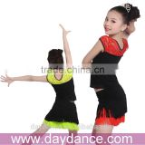 Teen Girls Dance Costumes Salsa Ballroom Latin Dance Dress Kids Fringe Skirt