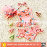 OEM Pretty Ice-crime Printed Lace Sexy Girls Swimsuit Kids Tankini