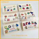 Wooden Domino Kid learning abacus puzzle,Children wooden domino blocks set,Good quality wooden domino with OEM logo