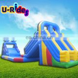 Popular Outdoor Inflatable Water Park Equipment With Double Slides And Kids Play Giant Pool