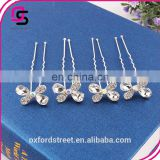 Korean butterfly Rhinestone Pin hair accessories hairpin small u for bride jewelry